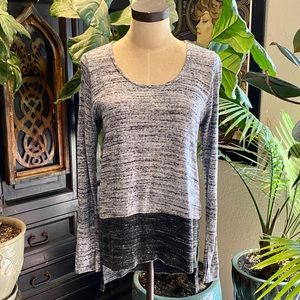 Anthropologie Tops - Anthropologie highlow gray color block sweater top